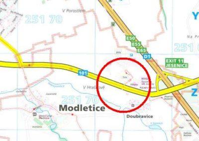 Modletice-mapa plan